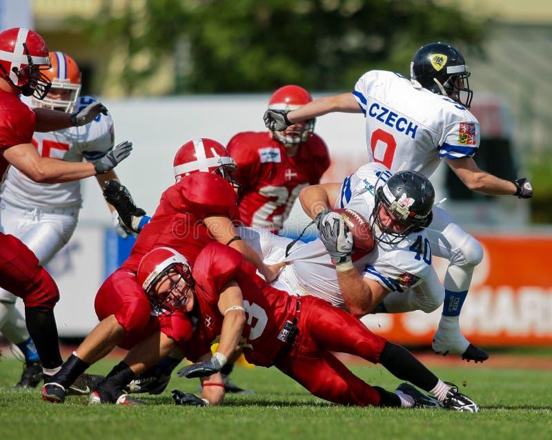 Championnat B-Européen 2009 de football américain images libres de droits