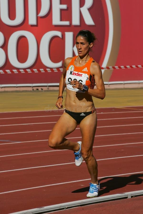 Championnat d'athlétisme, Sara Moreira image libre de droits