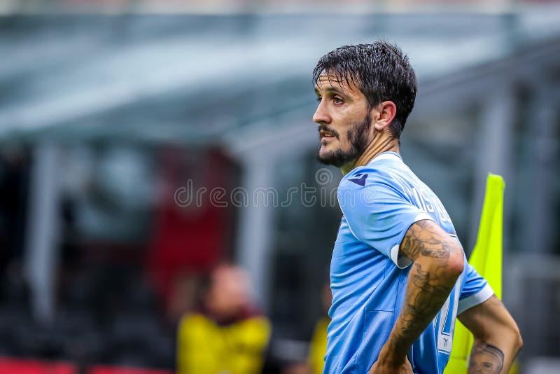 Championnat d'Italie de football masculin A Milan vs S S Lazio photographie stock libre de droits