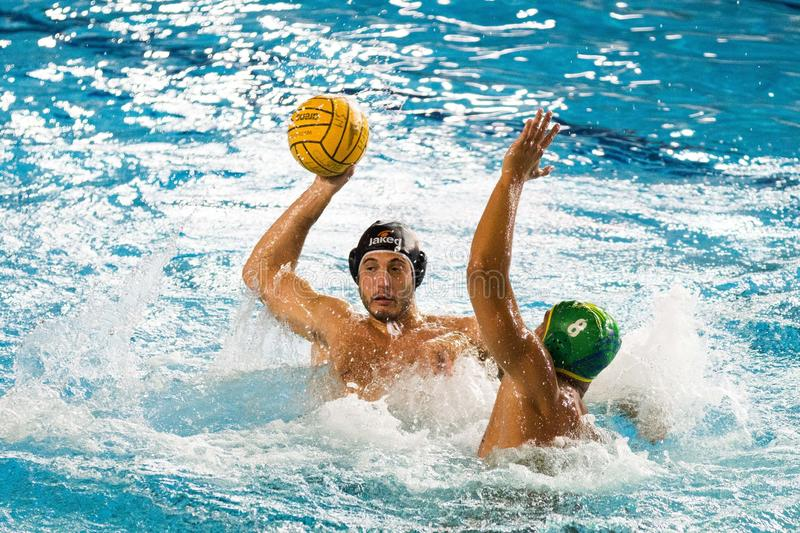 Championnat d'Italie de water-polo Série A Men Banco BPM Sport Management vs C C Ortigia photo stock