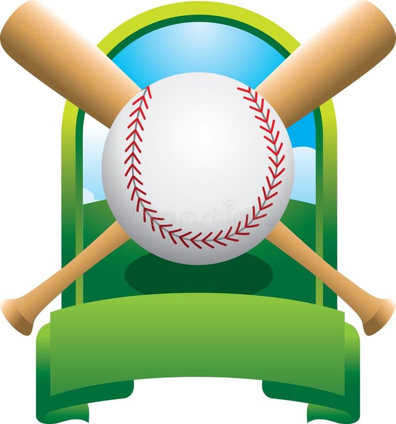 championnat de batte de baseball croisé illustration de vecteur
