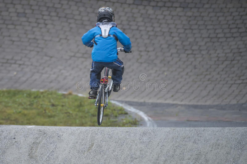 Championnat de circuit dans le bmx cycling2 photos stock