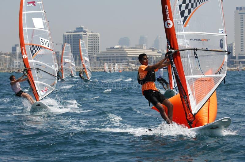 Championnat de la jeunesse de l'Israël de yacht photo libre de droits