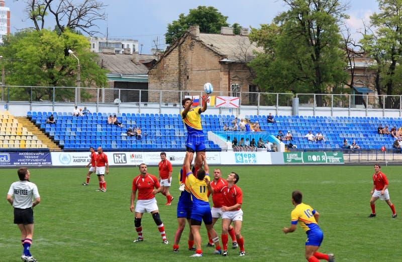 Championnat de sevens de rugby images libres de droits