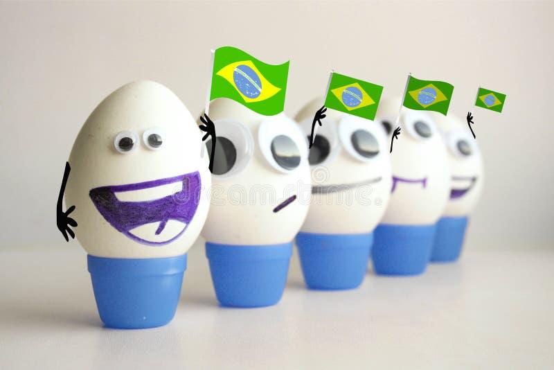 Championnat du football du Brésil Concept images libres de droits