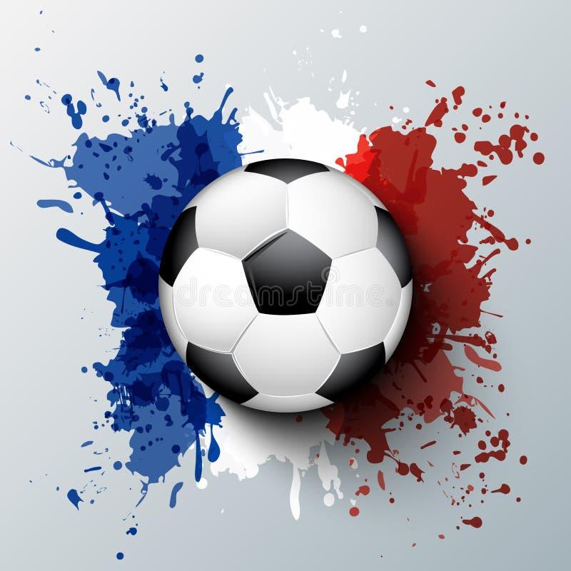 Championnat du football de Frances de l'euro 2016 illustration de vecteur