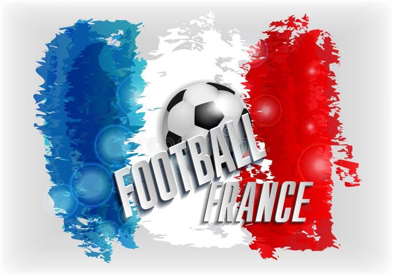 Championnat du football de Frances de l'euro 2016 avec des couleurs de drapeau illustration libre de droits