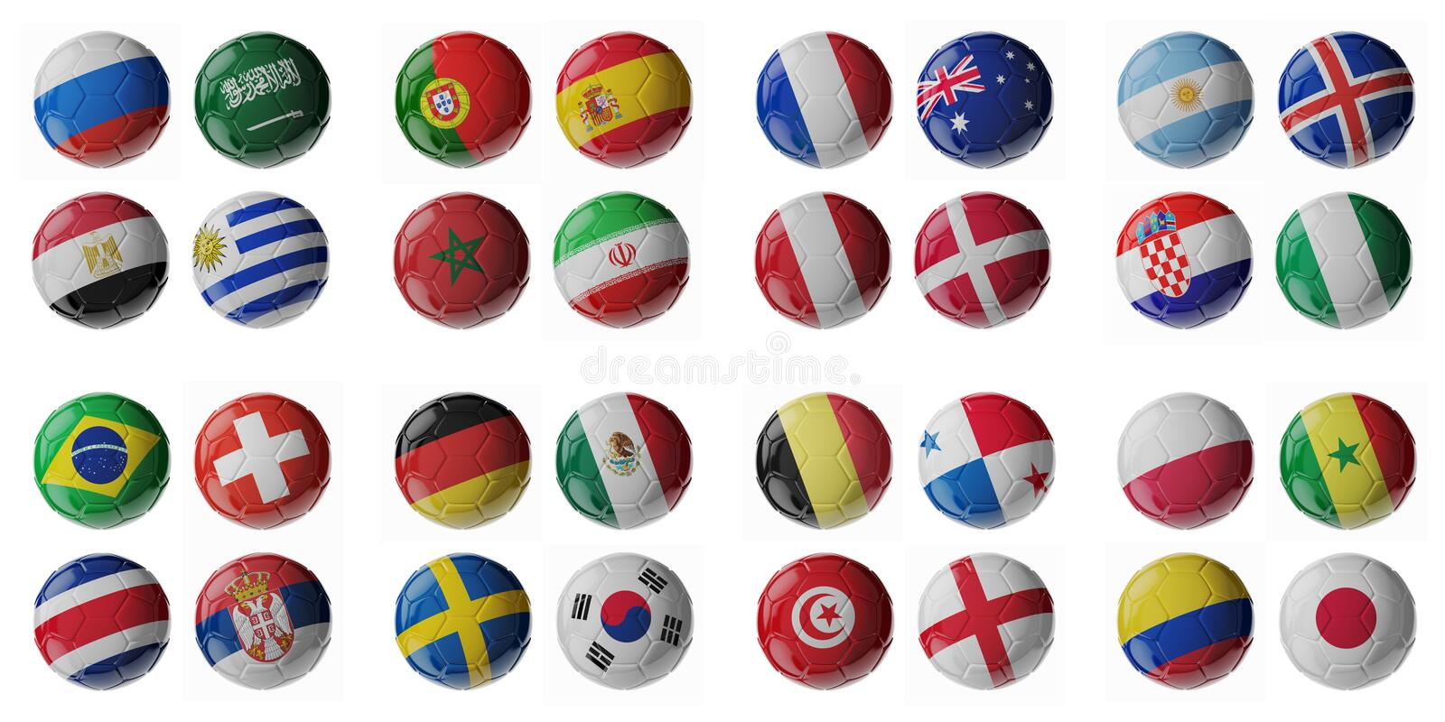 Championnat 2018 du football Le football/ballons de football illustration de vecteur