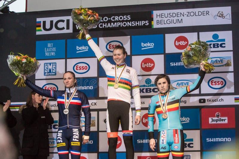 Championnat du monde d'UCI Cyclocross - Heusden-Zolder, Belgique photos stock
