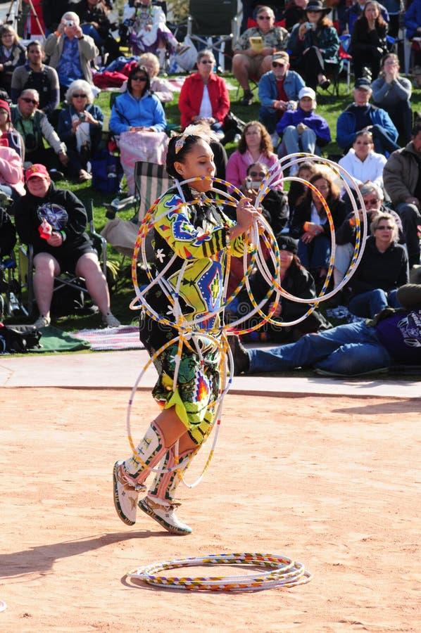 Championnat du monde de danse de cercle de Natif américain images libres de droits
