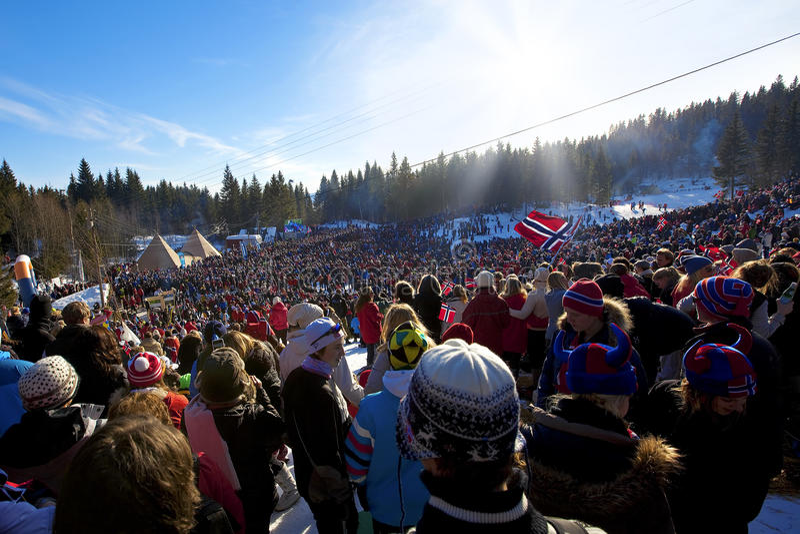 championnat du monde de ski de 50km Oslo 2011 photos stock