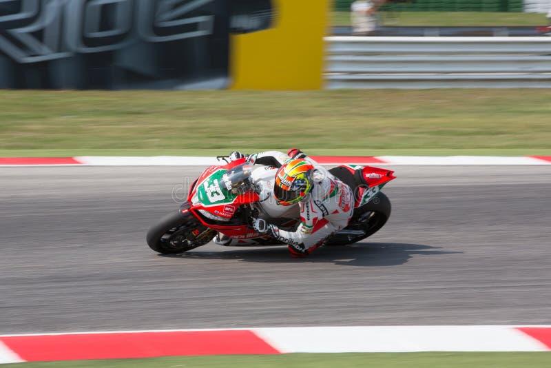 Championnat du monde de Superbike de FIM - session de pratique gratuite 3th image stock