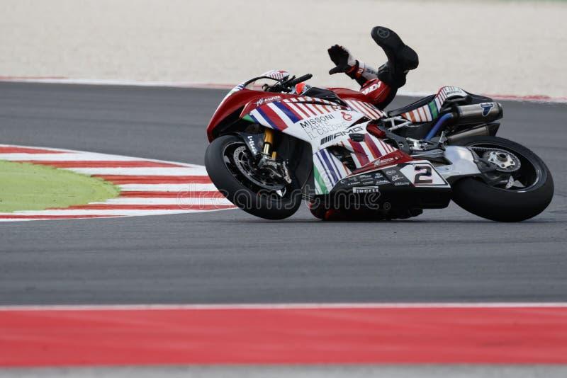 Championnat du monde de Superbike de FIM - session de pratique gratuite 3th photos libres de droits