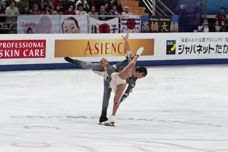 Championnat du monde sur la figure patinage 2011 photographie stock