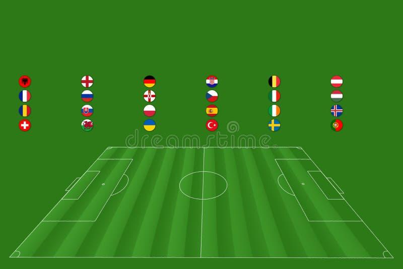 Championnat européen du football - fin de support 2016 photographie stock