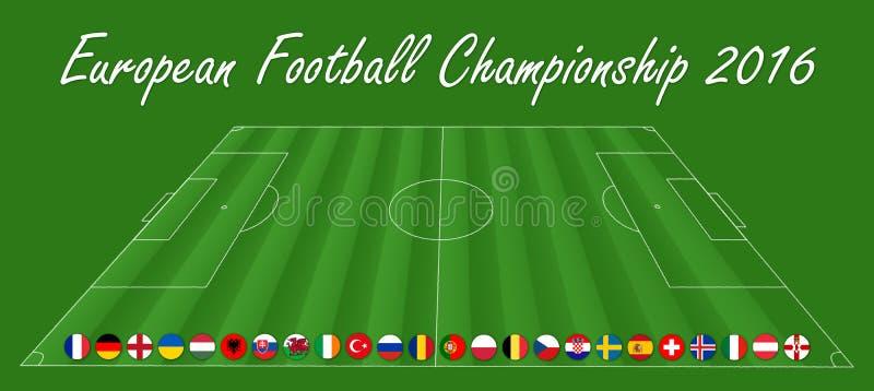 Championnat européen du football - fin de support 2016 photos libres de droits