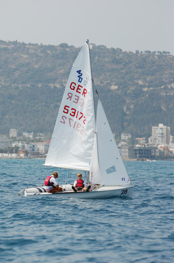 Championnat international 2010 de mot du yacht 420 images stock