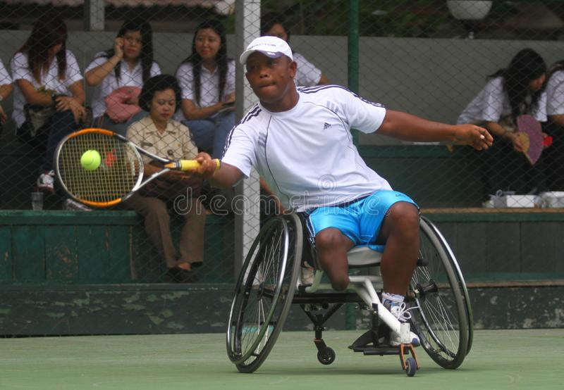 Championnat international de fauteuil roulant de tennis images stock