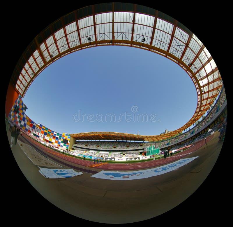 Championnat portugais d'athlétisme, vue de stade images stock