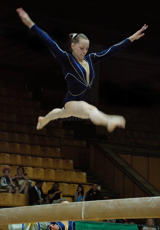 Championnat sur la gymnastique sportive photos libres de droits