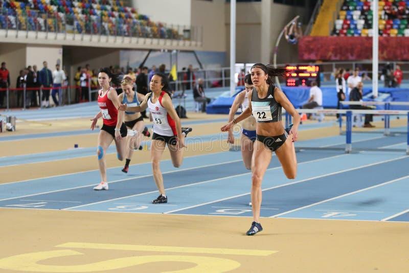 Championnats d'intérieur d'Istanbul d'athlétisme images stock