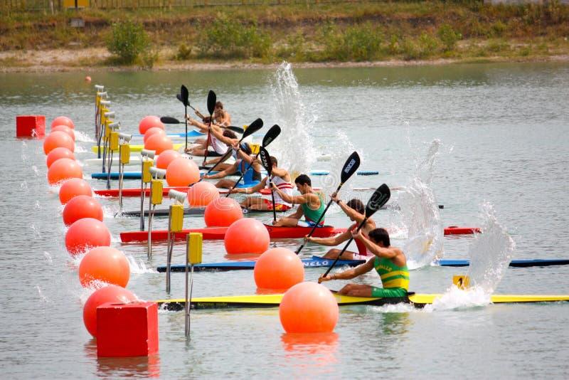 Championnats d'Italien de canoë et de kayak image libre de droits