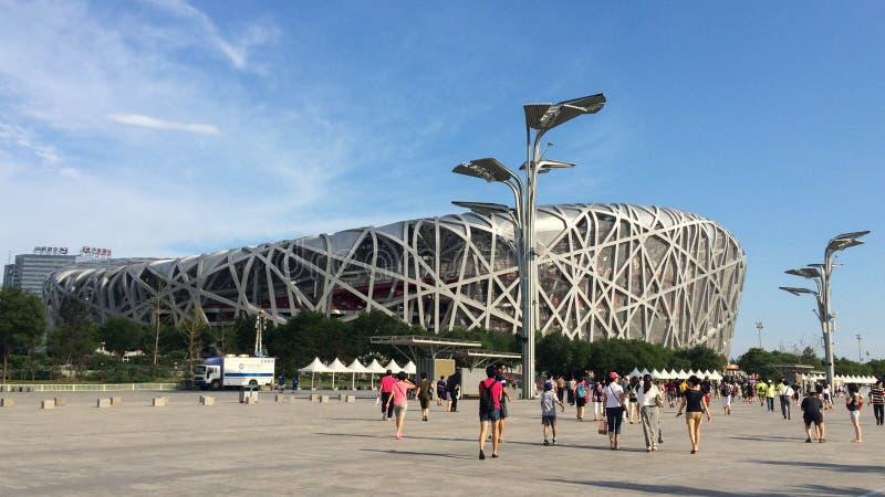 Championnats du monde d'IAAF dans le nid de l'oiseau, Pékin, Chine photo stock