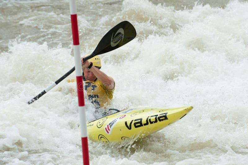 Championnats européens de slalom de canoë, Cunovo (SVK) photos libres de droits