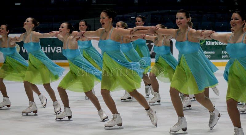 Championnats finlandais 2010 - patinage synchronisé photographie stock libre de droits