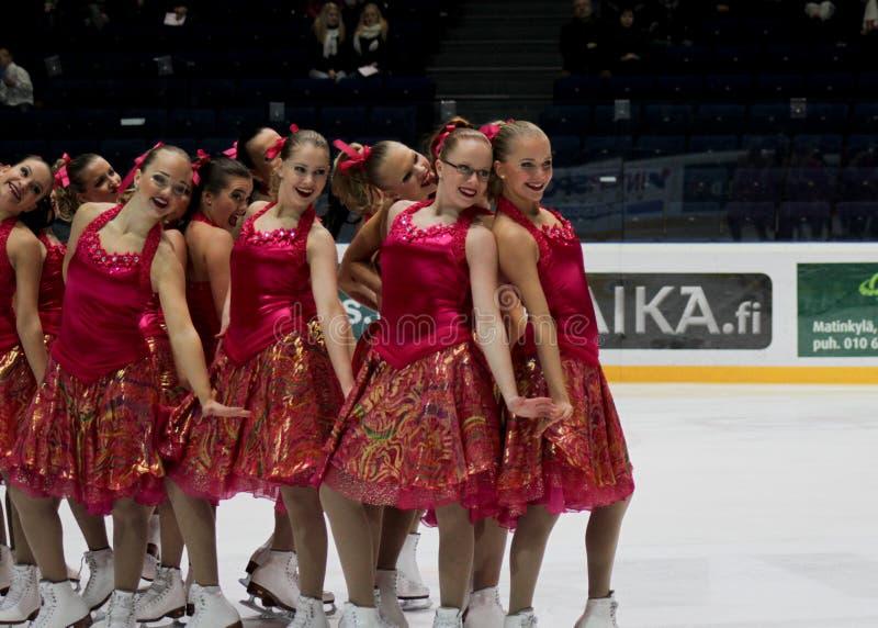 Championnats finlandais 2010 - patinage synchronisé photo libre de droits