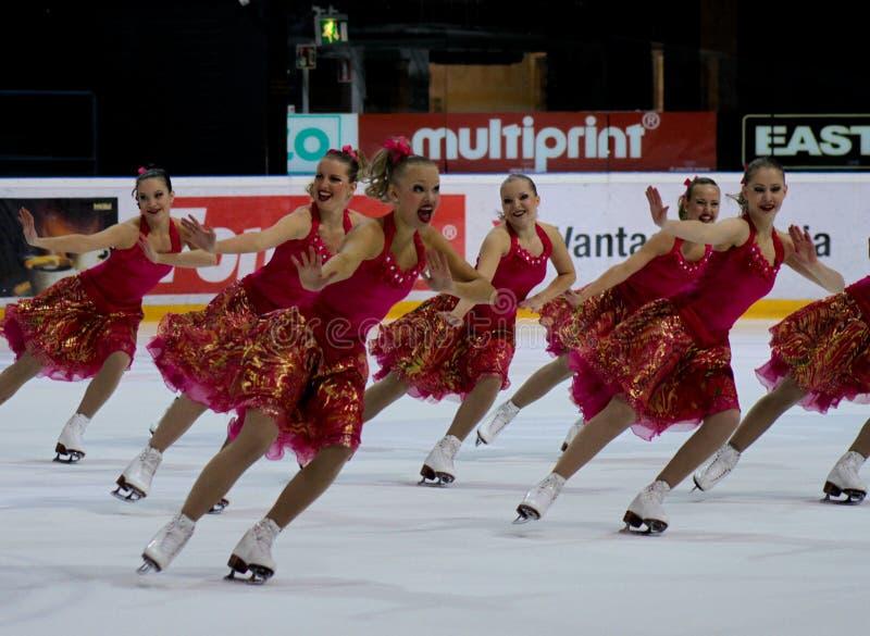Championnats finlandais 2010 - patinage synchronisé images libres de droits