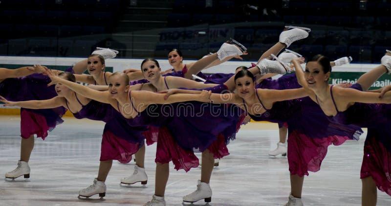 Championnats finlandais 2010 - patinage synchronisé photographie stock