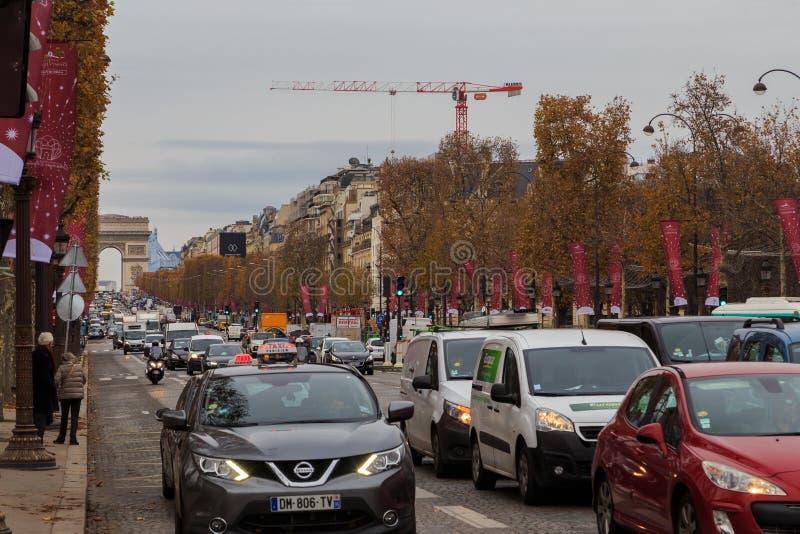Champions Elysees Paris photo libre de droits