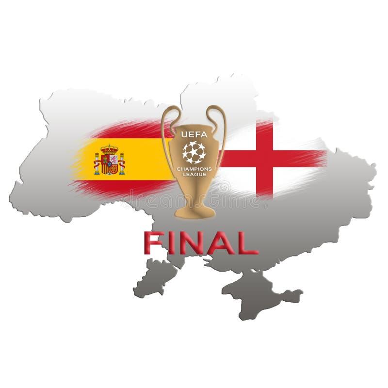 Champions League finał Futbolowa filiżanka Kijów 2018 zdjęcia stock