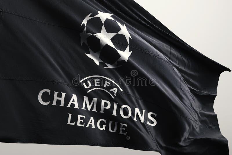 Champions League flaga royalty ilustracja