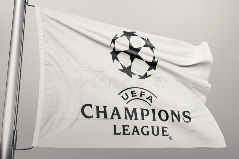 Champions League flaga obraz stock