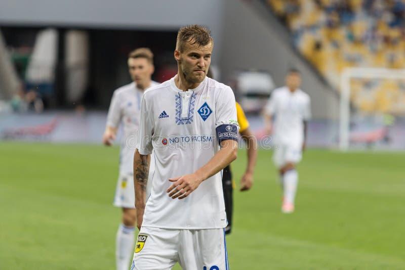 Champions League football match Dynamo Kyiv – Young Boys, July royalty free stock photography