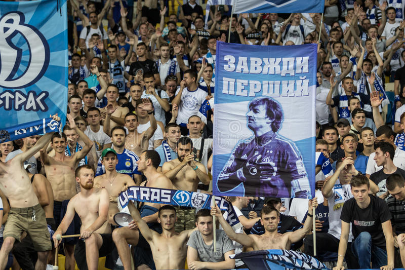 Champions League football match Dynamo Kyiv – Young Boys, July royalty free stock images