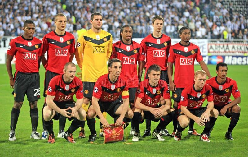 Champions League-Fußbalabgleichung stockfoto