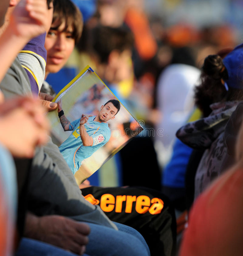 Championship celebrations of APOEL club, CYPRUS stock photography