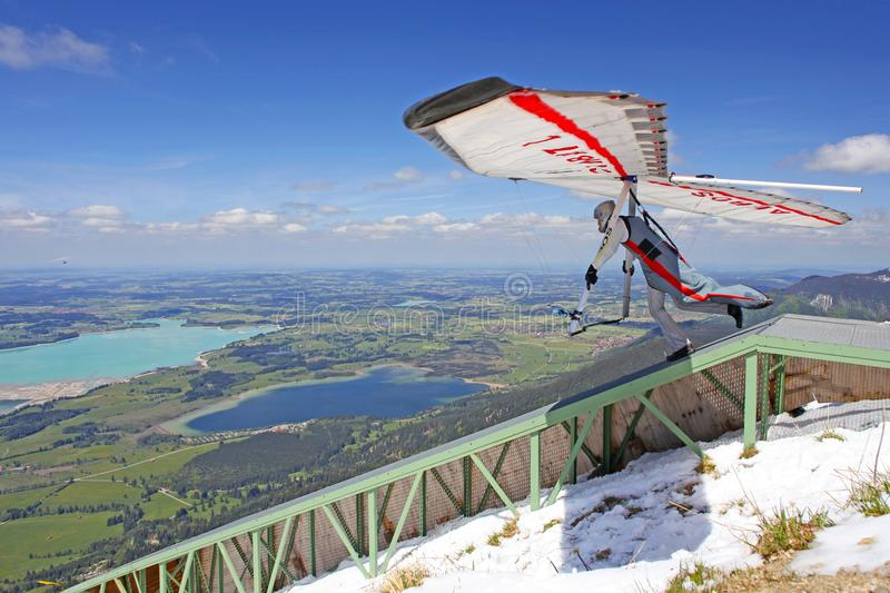Championship hang gliding competitions stock photo
