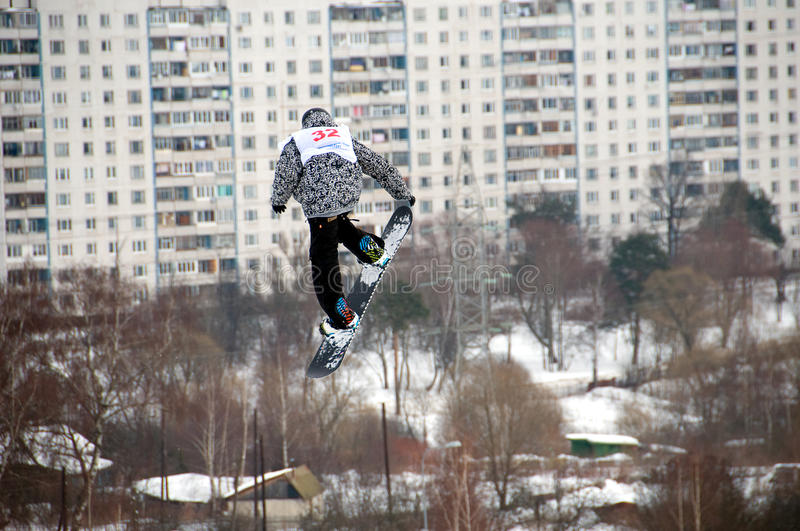 Download The Championship Of Russia On A Snowboard Editorial Photography - Image: 18382657