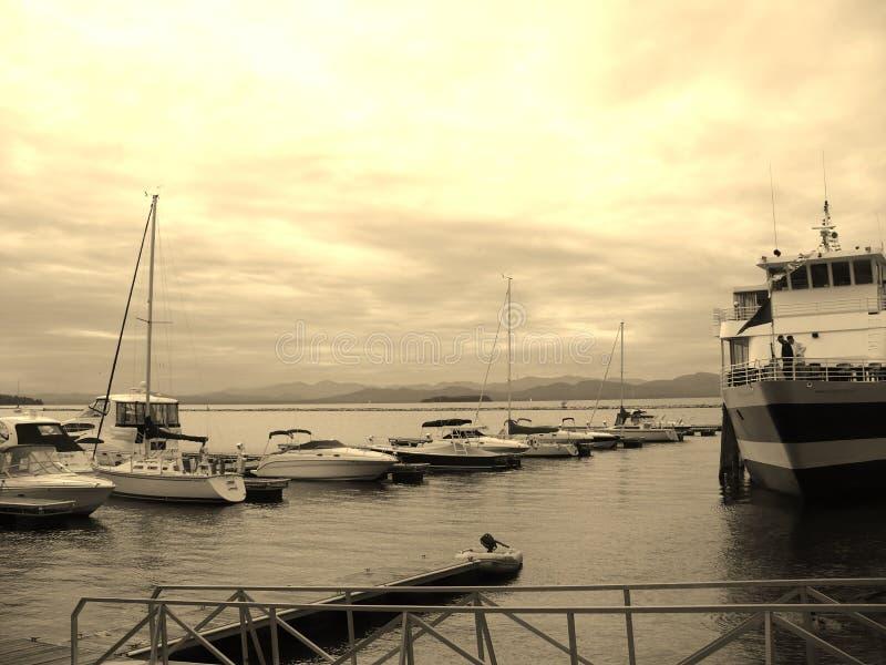Champlain-Boote lizenzfreie stockbilder