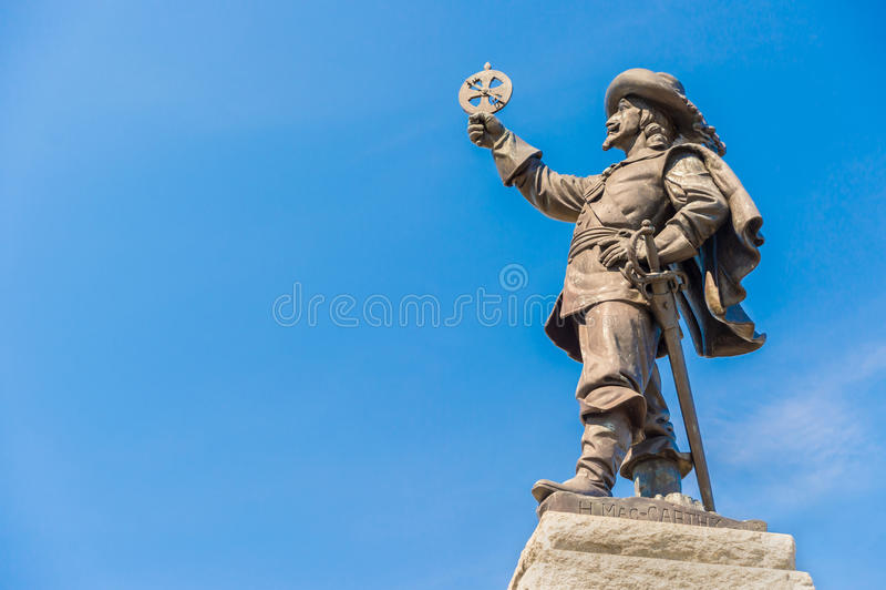 Champlain Statue stock image