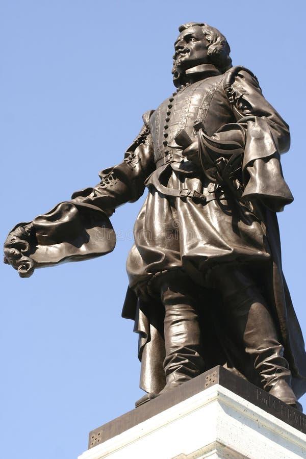 Champlainstandbeeld stock afbeeldingen