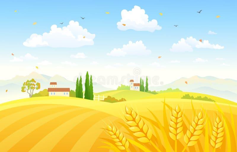 Champs d'automne illustration libre de droits