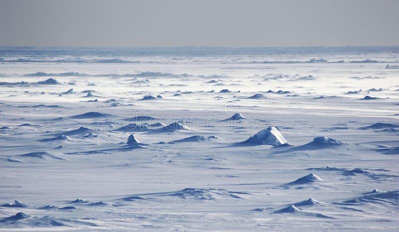 Champs de neige antarctiques photographie stock
