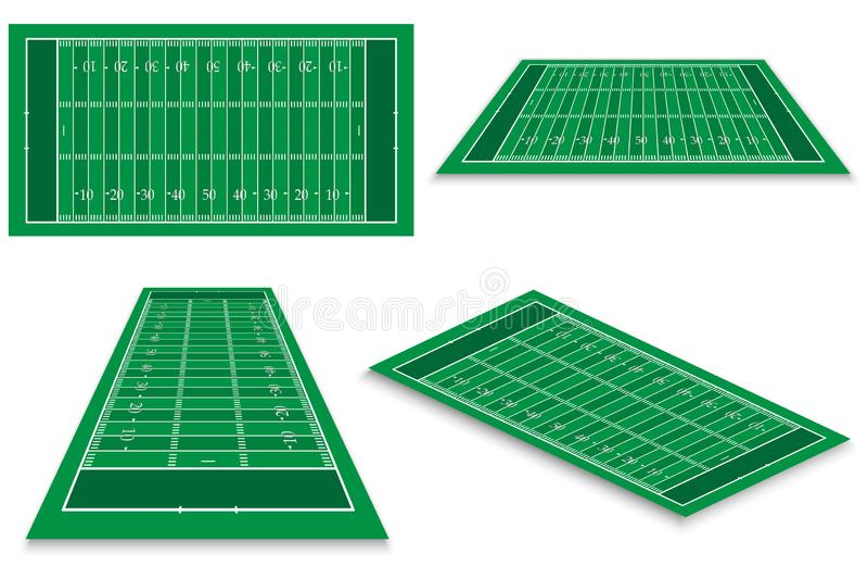 champs de sport de jeu verts au-dessus du fond blanc illustration de vecteur