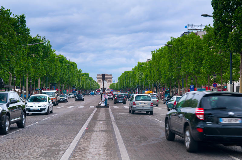 Download Champs Elyees editorial image. Image of trees, avenue - 29446545