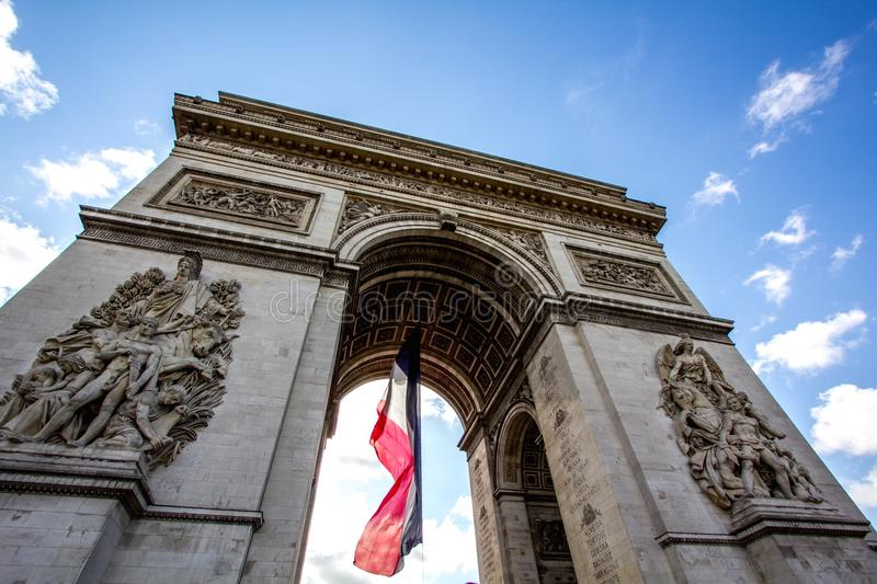 Champs Elysee stock photos